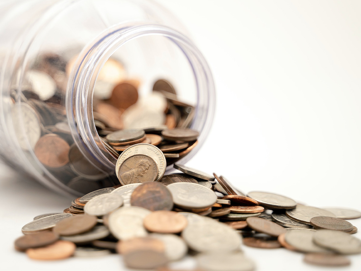 An image of a jar of coins.